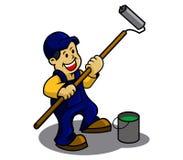 Paint boy. A  illustration of paint boy Stock Photos