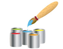 Paint brash Royalty Free Stock Photography