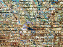 Paint On Brick Wall Background Royalty Free Stock Photo