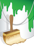 Paint with brush Royalty Free Stock Image