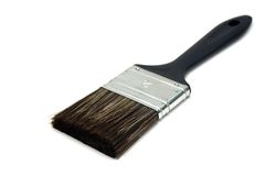 Paint brush. A paint brush isolated on a white background Royalty Free Stock Image
