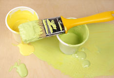 Paint brush. A paint brush with colours Stock Image