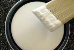 Paint Brush. Ready To Paint Latex Paint Royalty Free Stock Photo