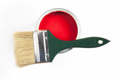 Paint with brush Royalty Free Stock Images