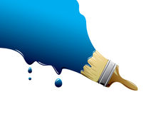 Paint brush. Painting Brush with blue paint Royalty Free Stock Photography