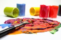 Paint with brush Stock Photography