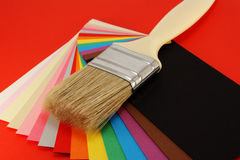 Paint brush. Paint brush on colorful background Stock Photography