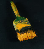 Paint brush. Front view of brush with paint Royalty Free Stock Photography