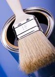 Paint and brush Royalty Free Stock Photos