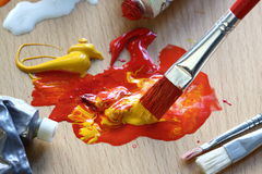 Paint and brush Stock Images