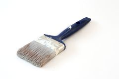 Paint brush. Used paint brush on white royalty free stock photos