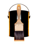 Paint Brush. Professional grade paint brush for use with latex paints. Synthetic bristle Stock Image