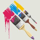 Paint-brush Obrazy Royalty Free