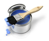 Free Paint Brush And Can Stock Photos - 13542863