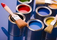 Free PAINT BRUSH AND CAN Royalty Free Stock Photo - 2303965
