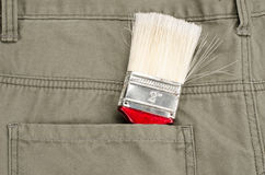 Paint brush in back pocket Royalty Free Stock Photos