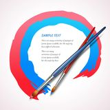 Paint brush background Royalty Free Stock Images