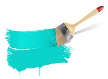 Paint brush background Royalty Free Stock Photo