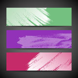 Paint brush banner colorful background. Set. vector illustration Royalty Free Stock Photo