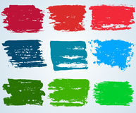 Paint brush banner colorful background. vector. Paint brush banner colorful background. Labels, tags with a brush stroke hand painted backdrop. vector Stock Photos