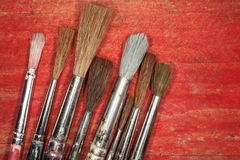 Paint brush bristles background Stock Photos