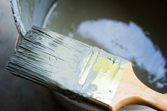 Paint Brush and Bucket Royalty Free Stock Image
