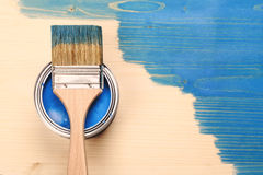 Paint brush on the can Royalty Free Stock Photo
