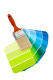 Paint Brush and Chips Royalty Free Stock Photography