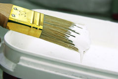 Paint brush close-up Stock Photos