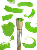 Paint brush with color painting Royalty Free Stock Photos
