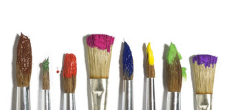 Paint brush with color painting stock images
