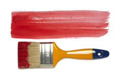 Paint brush with color painting Royalty Free Stock Images