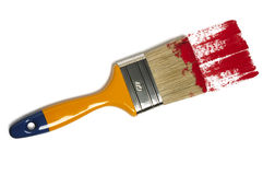 Paint brush with color painting stock photography