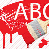 Paint brush color vector background in red Royalty Free Stock Photography