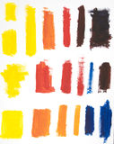 Paint Brush Colors Stock Photo
