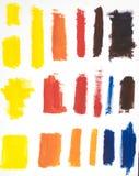 Paint Brush Colors Stock Photo