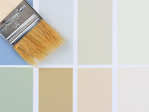 Paint Brush in Corner Color Chart Royalty Free Stock Photography