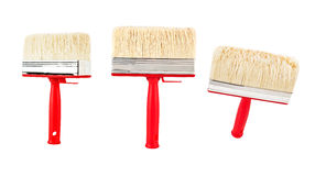 Paint brush in different angles Stock Photography