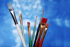 Paint brush focus on small center  one Stock Images