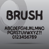Paint Brush Font and Numbers Stock Photography