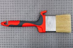Paint brush on gray background Stock Photos