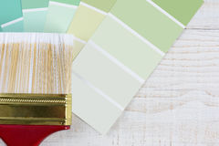 Paint Brush Green Chips Royalty Free Stock Photos