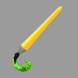 Paint brush icon. Graphic icon of a paint brush on a grey background Stock Photography