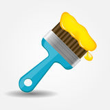 Paint brush icon vector illustration Royalty Free Stock Photos