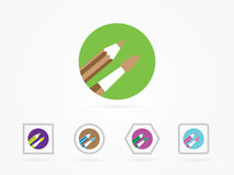 Paint brush icon vector illustration. For your website icon royalty free illustration
