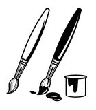 Paint brush icons Royalty Free Stock Images
