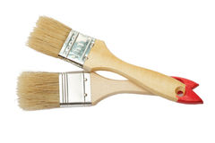 Paint brush isolated on white Royalty Free Stock Photography