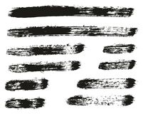 Paint Brush Lines High Detail Abstract Vector Background Set 57. This image is a vector illustration and can be scaled to any size without loss of resolution royalty free illustration