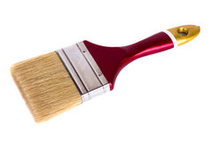 Paint brush maroon lies on a white background Royalty Free Stock Photography