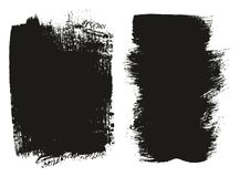 Paint Brush Medium Background Mix High Detail Abstract Vector Background Set 03 stock illustration